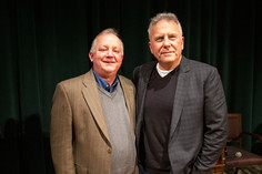Paul Reiser with Writers Institute Director Paul Grondahl