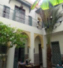Riad Orange binnenplaats
