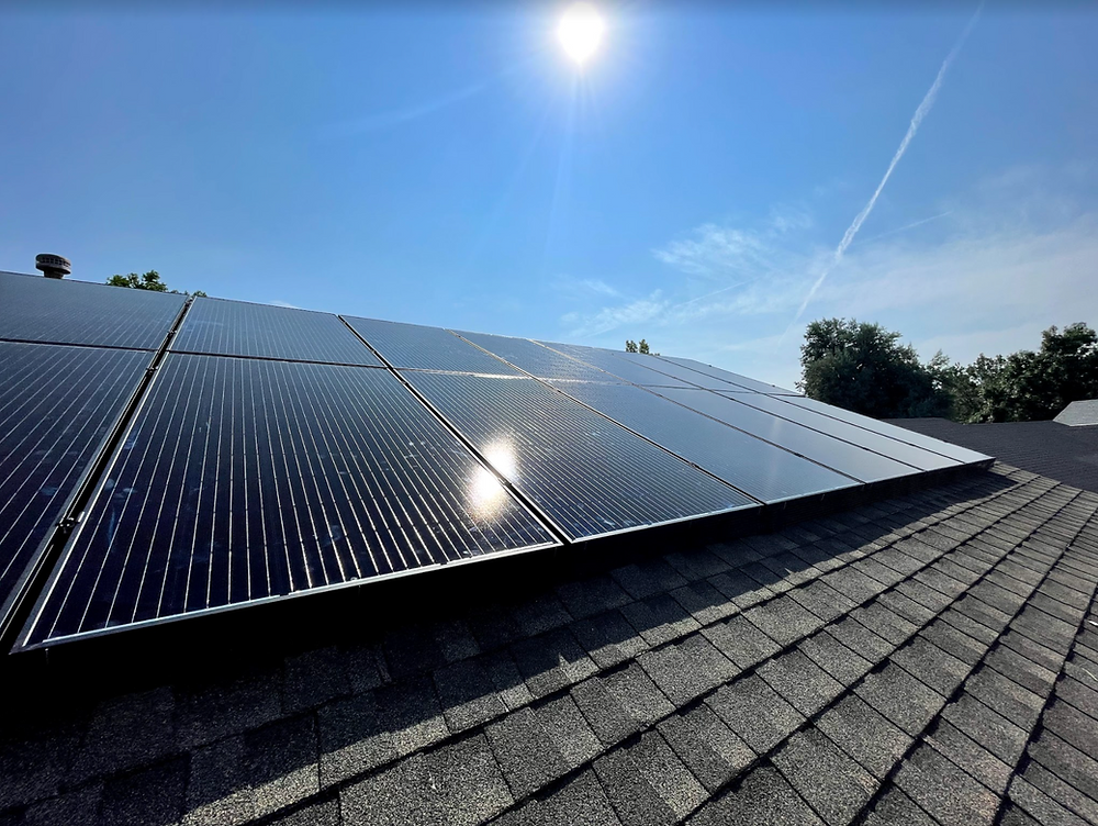 solar panels sunlight in colorado