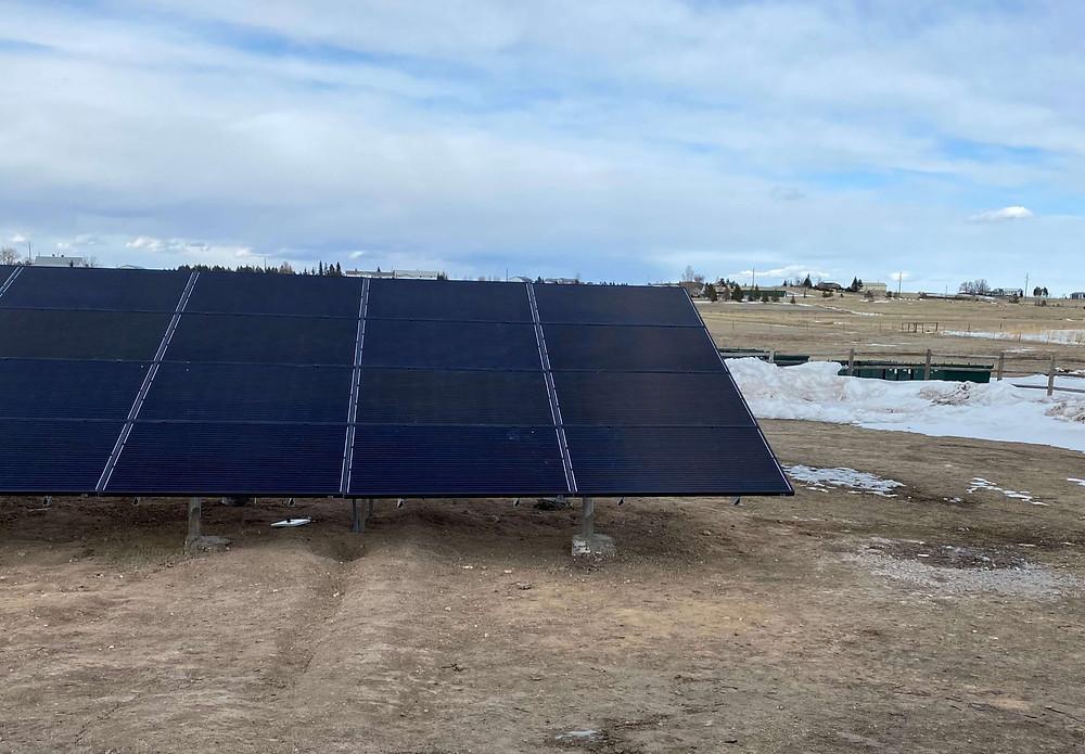 Denver Solar Company Apollo Energy Ground Mount Solar Panel Installation in Cheyenne Wyoming