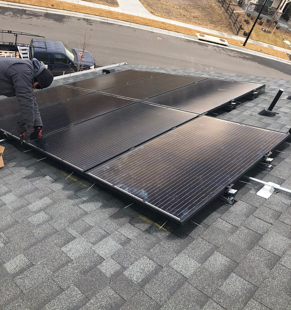 Colorado Solar Company Apollo Energy Installing Solar Panels in Thornton.