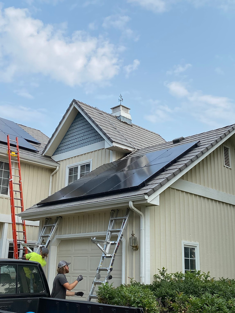 solar panels being installed in colorado