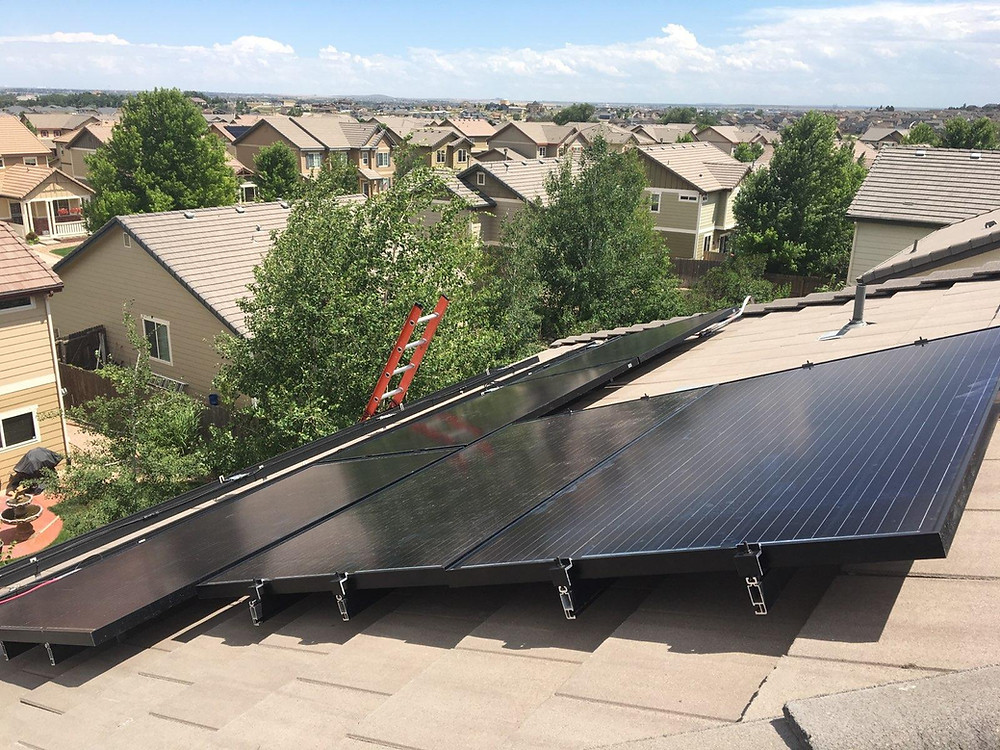 Solar Panel Installation in Thornton, Colorado.