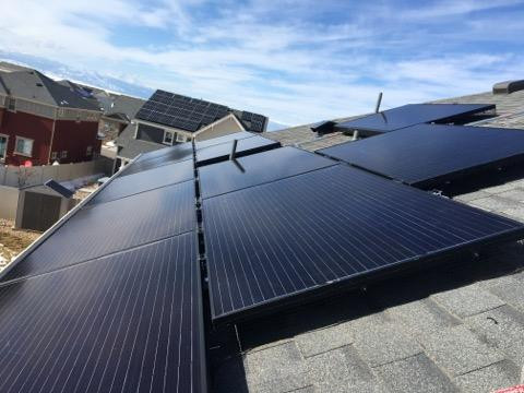 Solar Panels installed by Apollo Energy, a solar company in Denver Colorado