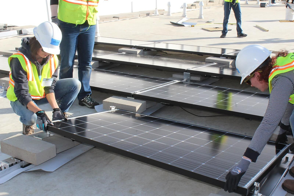 Apollo Energy COO Installing Solar during 2019's We Build
