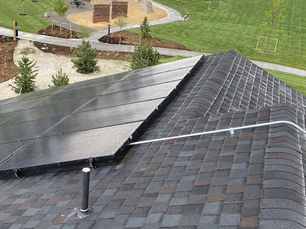 solar panels installed near a community park in Colorado