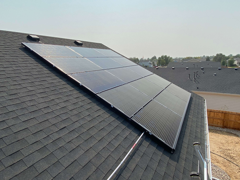 Colorado Roof with Solar Panels