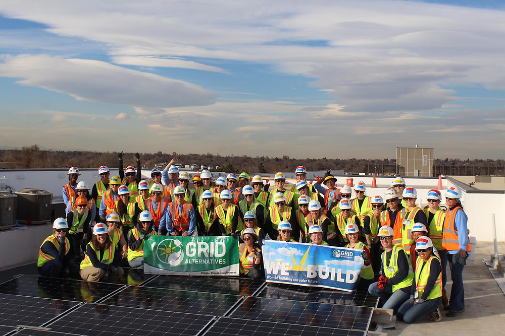 Denver Women in Solar at 2019's We Build.  Representing Companies, Installers, and more.