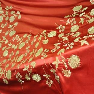 Вышивка золотых цветов