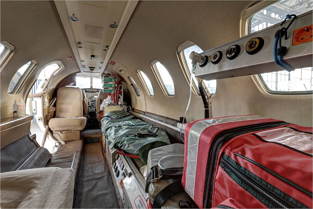 Interior of Air Ambulance
