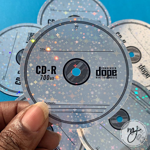 Mix CD Holographic  Sticker