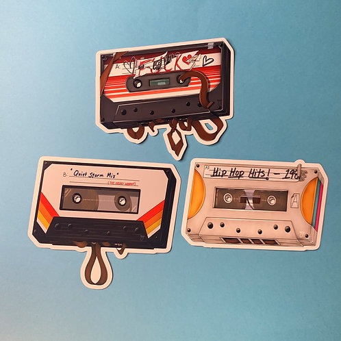 Cassette Tape Mix Sticker Pack