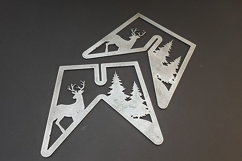 Campfire cook stand - Deer & pine trees