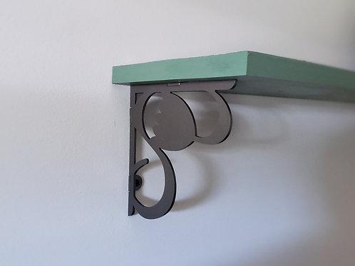 """Decorative steel shelf brackets 6"""" x 6"""" - Tulips - Set of 2"""