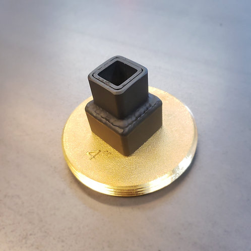 """Square socket for 1-1/2"""" raised head cleanout plugs - Brass 4"""""""