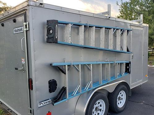 Aluminum Ladder rack(pair),enclosed trailer- wall mount interior or exterior