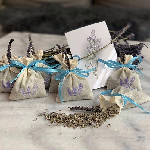 Lavendelsäcken inkl Lavendelprint