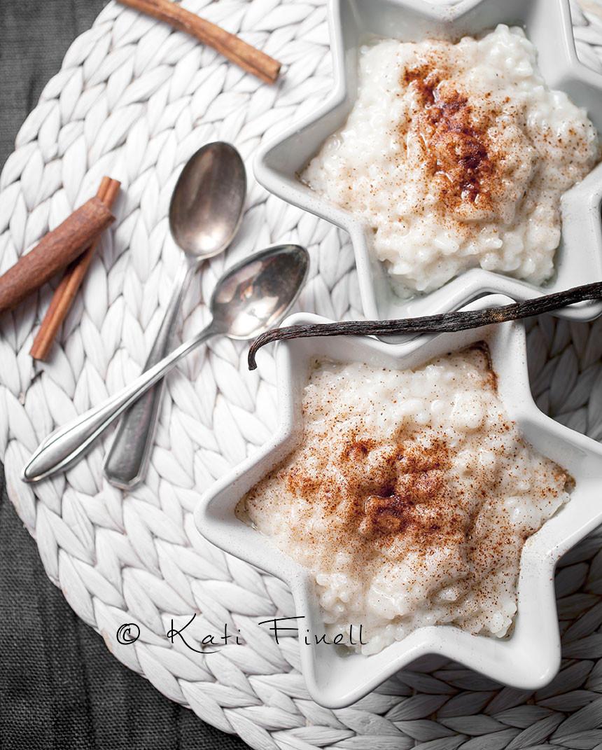 kookos-vanilja riisipuuro