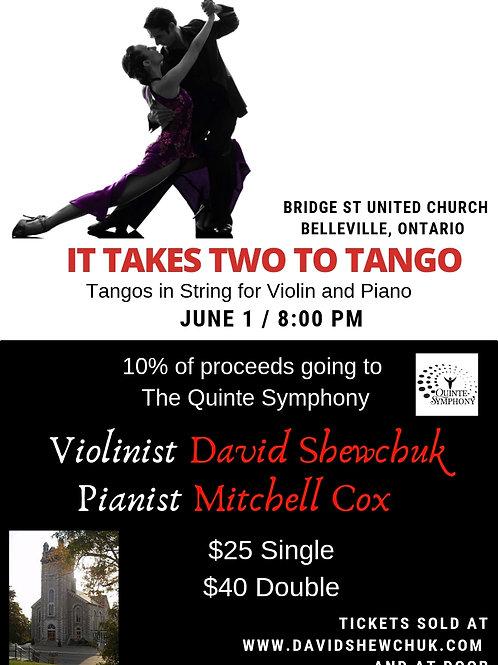 """""""It takes two to tango"""" Single ticket"""