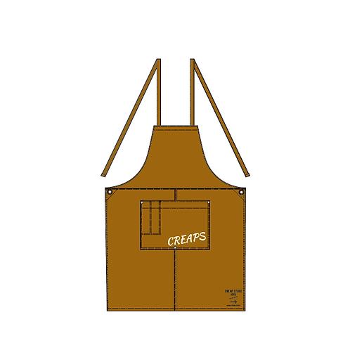 CREAP  ウォッシュ キャンバス エプロン(クロスタイプ)キャメル