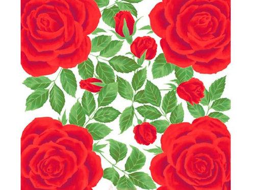 綿小風呂敷 薔薇