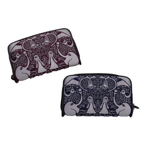 財布|ミニファスナー 博多織 INORI ジャングルの動物たち
