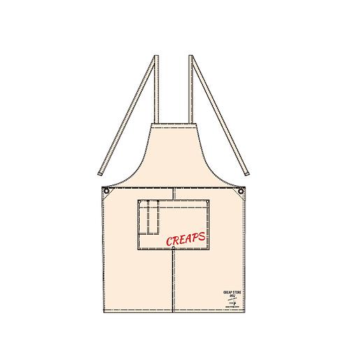 CREAP  ウォッシュ キャンバス エプロン(クロスタイプ)ナチュラル
