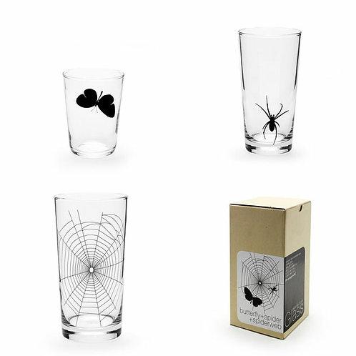GLASS-SPIDER WEB SET
