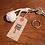 "Thumbnail: Monkey Knot Key Ring ""White"""
