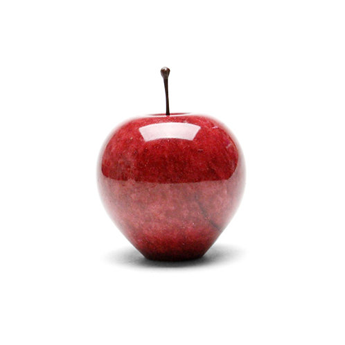 """Marble Apple """"Red / Large"""""""