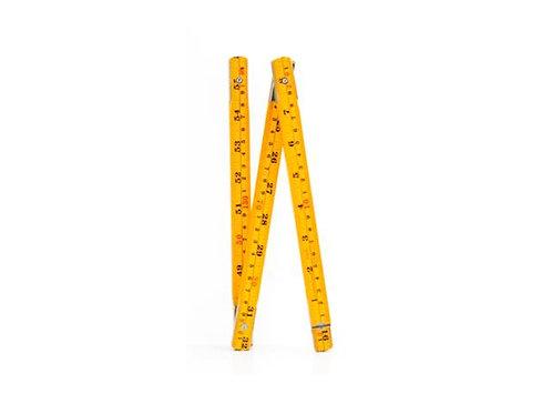 Wooden Swedish Folding Ruler Yellow