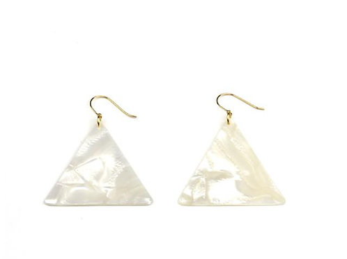 Lanterna Celluloid Hooks - Pearl - Triangle(セルロイドピアス パール 三角)