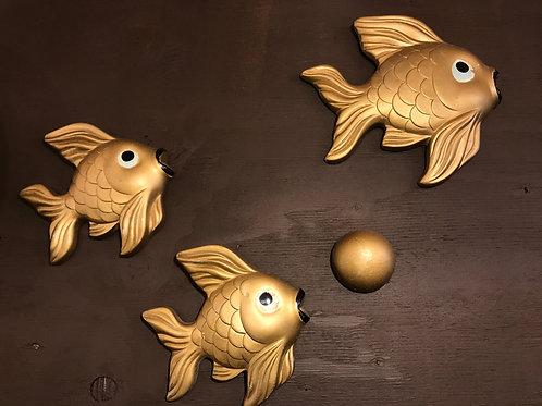MILLER STUDIO Chalk ware Gold fish