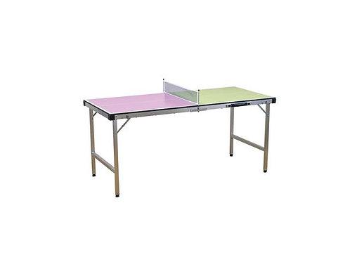 バイカラー キャリー卓球台セット ピンク×イエローグリーン