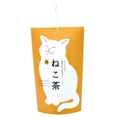ねこ茶 金の鈴 静岡県産一番茶ティーバッグ