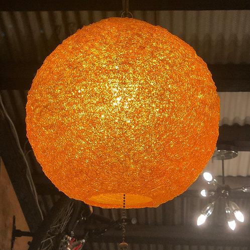 Vintage Spaghetti Lucite Chandelier Orange Color