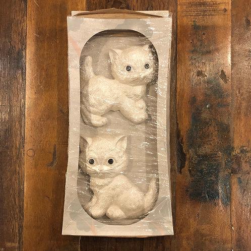 Miller Studios Chalkware White cat DEAD STOCK