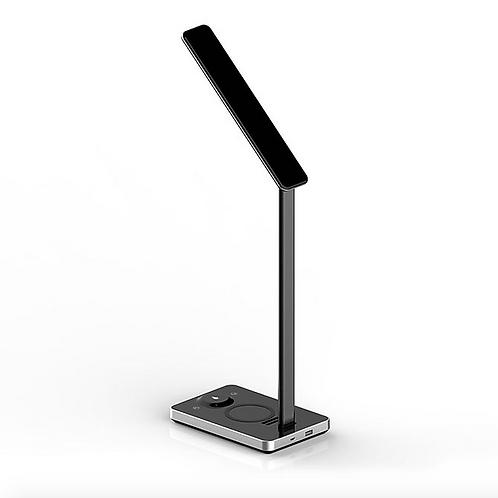 Luminária Led Com Carregador Por Indução Preto Xtrax