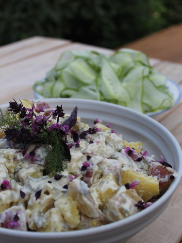 Potato salad with purple basil.JPG
