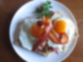 Bacon and fried eggs.JPG