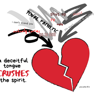 Proverbs 15:4 Deceitful Tongue Crushes