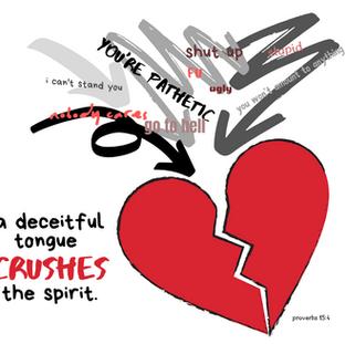 Proverbs 15:4 Deceitful Tongue Crushes