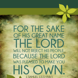 1 Samuel 12:22 No Rejection_iPhone Lockscreen