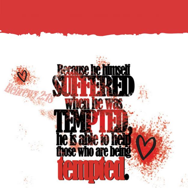 Hebrews 2:18 Because He Suffered_iPhone Lockscreen