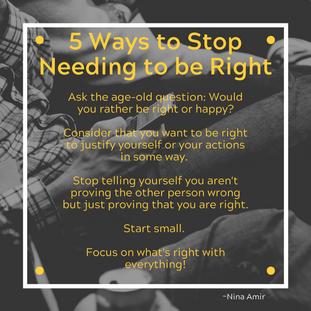 Needing To Be Right