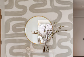 Wallpaper Accents In Small Doses