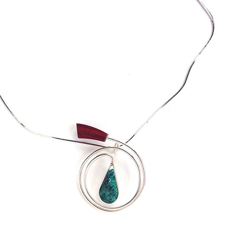 French Horn - Malachite Necklace