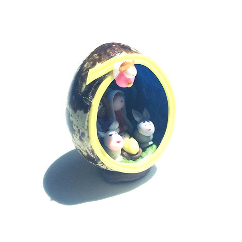 Nativity in Quail Egg