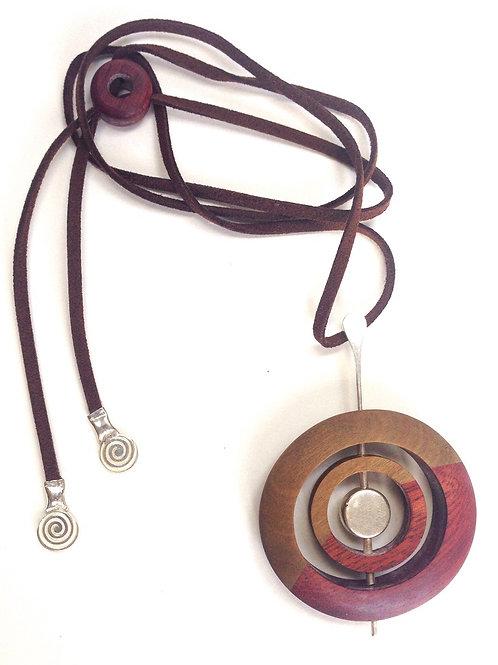 Orbits - 2 Woods Necklace