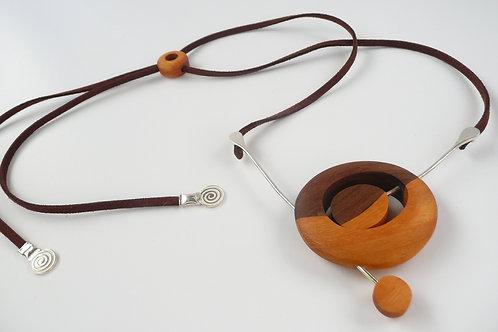 Universe 2 wood necklace